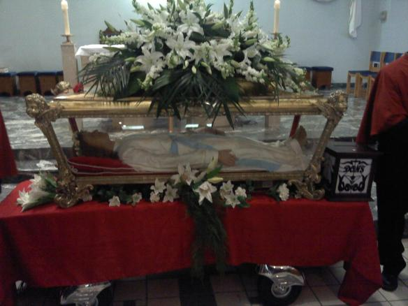 The relics of St. Maria Goretti at St. Nicola di Bari parish in Toronto.