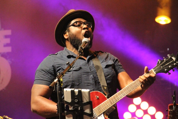 Ike Ndolo leads worship on July 4 at the first Steubenville Toronto conference in 2014. (Photo by Ruane Remy)